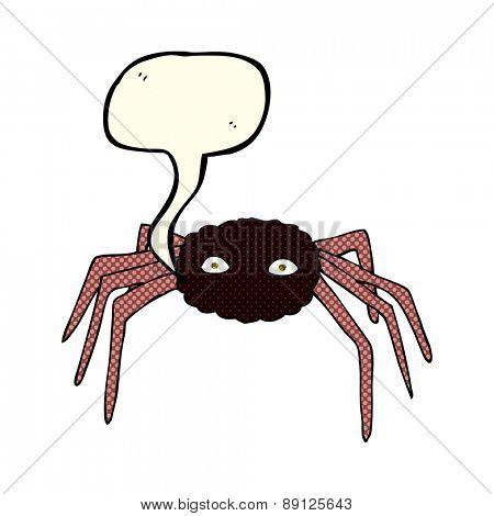 cartoon spider with speech bubble