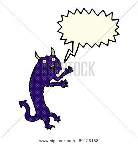 cartoon devil with speech bubble