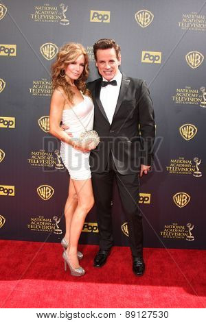 LOS ANGELES - APR 26:  Tracey Bregman, Christian LeBlanc at the 2015 Daytime Emmy Awards at the Warner Brothers Studio Lot on April 26, 2015 in Burbank, CA