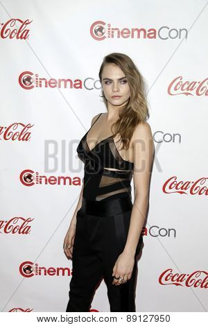 LAS VEGAS - APR 23:  Cara Delevingne at the CinemaCon Big Screen Achievement Awards at the Caesars Palace on April 23, 2015 in Las Vegas, NV