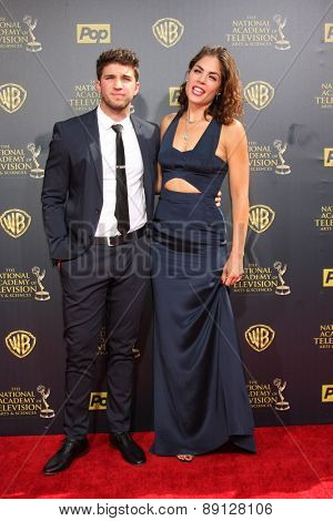LOS ANGELES - APR 26:  Bryan Craig, Kelly Thiebaud at the 2015 Daytime Emmy Awards at the Warner Brothers Studio Lot on April 26, 2015 in Burbank, CA