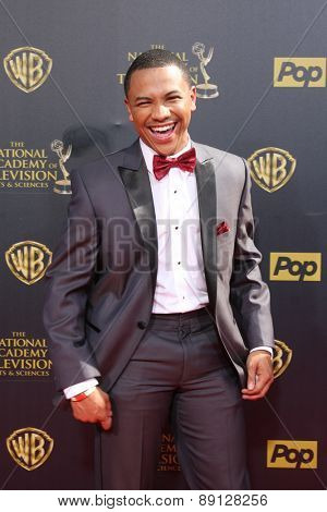 LOS ANGELES - APR 26:  Tequan Richmond at the 2015 Daytime Emmy Awards at the Warner Brothers Studio Lot on April 26, 2015 in Burbank, CA