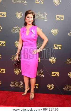 LOS ANGELES - APR 26:  Julie Chen at the 2015 Daytime Emmy Awards at the Warner Brothers Studio Lot on April 26, 2015 in Burbank, CA