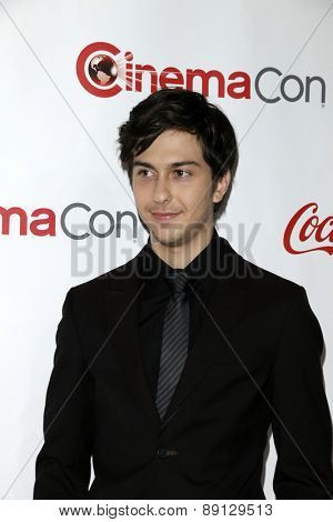 LAS VEGAS - APR 23:  Nat Wolff at the CinemaCon Big Screen Achievement Awards at the Caesars Palace on April 23, 2015 in Las Vegas, NV