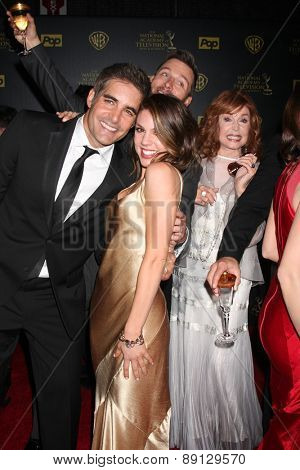 LOS ANGELES - APR 26:  Galen Gering, Kate Mansi, Eric Marsolf, Suzanne Rogers at the 2015 Daytime Emmy Awards at the Warner Brothers Studio Lot on April 26, 2015 in Los Angeles, CA