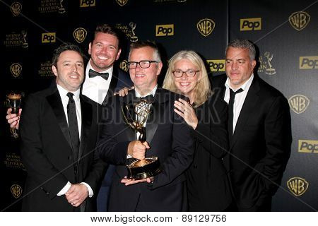 LOS ANGELES - APR 26:  Ellen Show Producers at the 2015 Daytime Emmy Awards at the Warner Brothers Studio Lot on April 26, 2015 in Los Angeles, CA