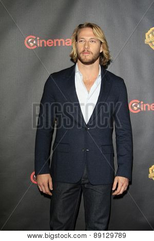 LAS VEGAS - APR 21:  Luke Bracey at the Warner Brothers 2015 Presentation at Cinemacon at the Caesars Palace on April 21, 2015 in Las Vegas, CA
