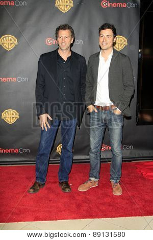 LAS VEGAS - APR 21:  Jonathan M. Goldstein, John Francis Daley at the Warner Brothers 2015 Presentation at Cinemacon at the Caesars Palace on April 21, 2015 in Las Vegas, CA