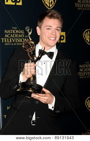 LOS ANGELES - APR 26:  Chad Duell at the 2015 Daytime Emmy Awards at the Warner Brothers Studio Lot on April 26, 2015 in Los Angeles, CA