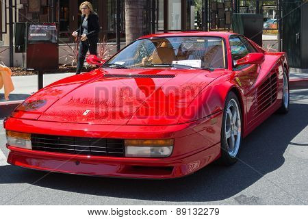 Ferrari Testarossa Car On Display