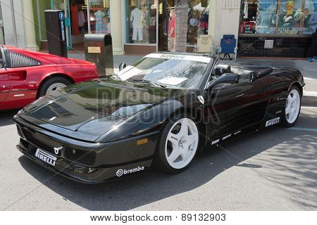 Ferrari 348 Spider Car On Display