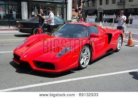Ferrari Enzo Car On Display