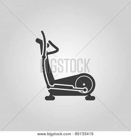 The Elliptical Trainer Icon. Bike Symbol. Flat