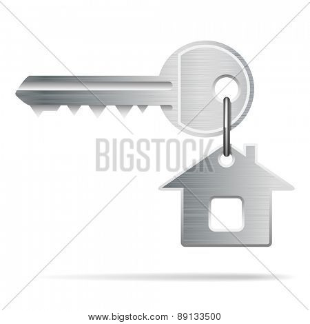 House Key isolated on white. Illustration vector.