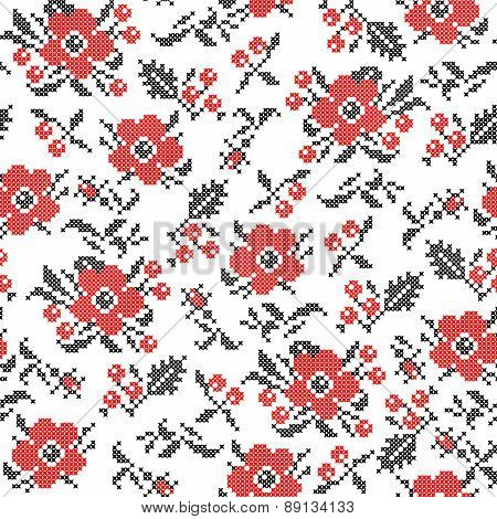 Seamless Texture Of Flowers