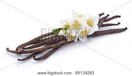 Vanilla pods with jasmine