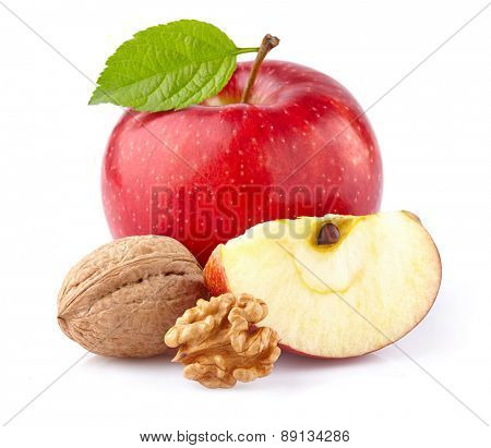 Apple with walnuts