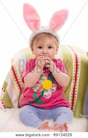 Expressive Easter Baby Girl