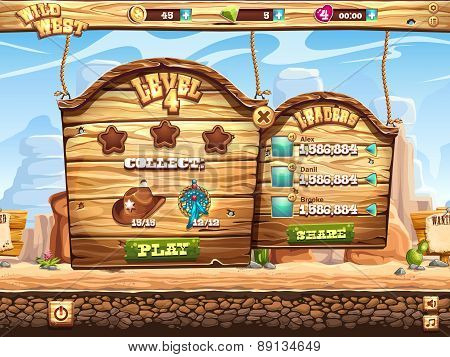 Example Of Window To Pass The Task Level In Game Wild West