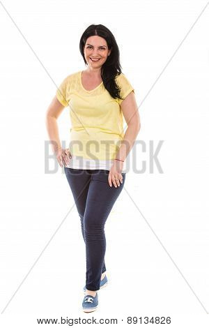 Casual Woman Posing