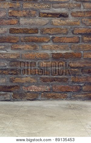 Brickwall As Background For Product Placement