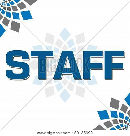 Staff Blue Grey Square Elements Square