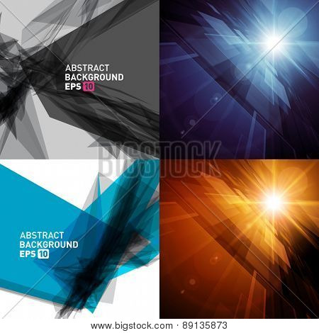Abstract backgrounds set vector modern design can be use for Business Brochures, Flyers, Website Banners, Corporate Report, Presentation, Advertising templates