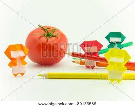 Origami Ninja With Tomato