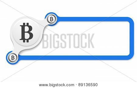Vector Blue Box Frame With Bit Coin