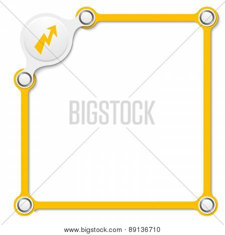 Vector Yellow Box With Lightning Bolt Arrow