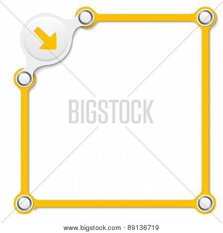 Vector Yellow Box With Arrow