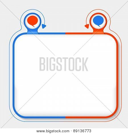 Abstract Frame With Speech Bubbles