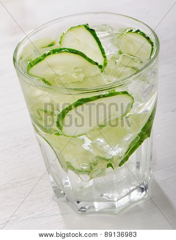 Water With A Fresh Cucumber
