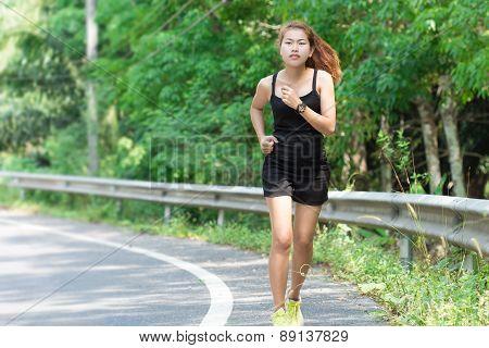 Activity Beauty Women Runing In Morning