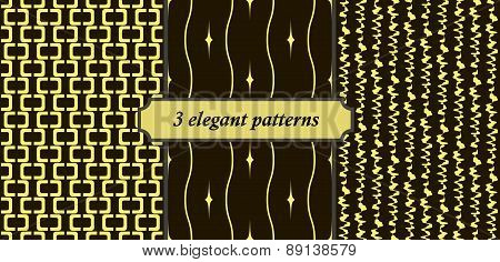 3 Elegant Seamless Patterns