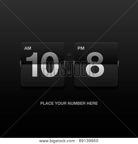Digital clock, analog black scoreboard