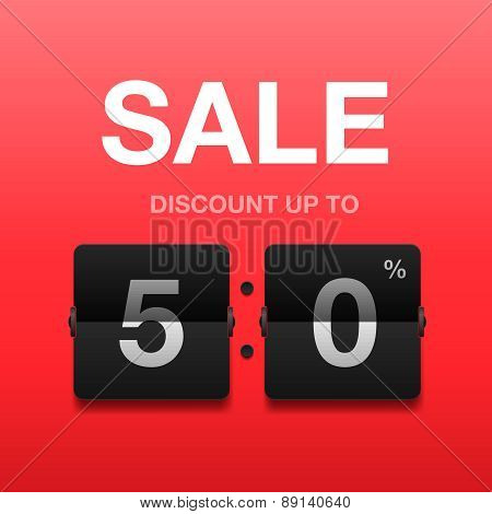 Sale, discount poster, vector illustration.