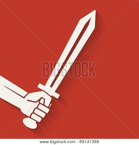hand with sword symbol