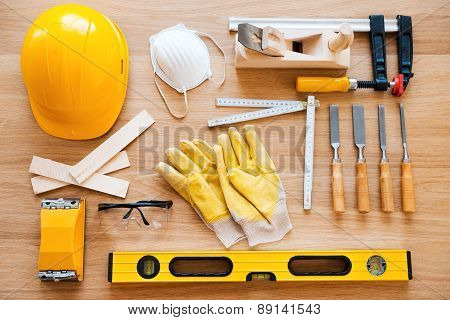 Work Tools For Carpenter.