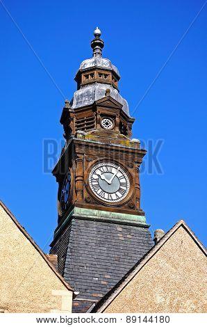 Evesham Town Hall Clock Tower.