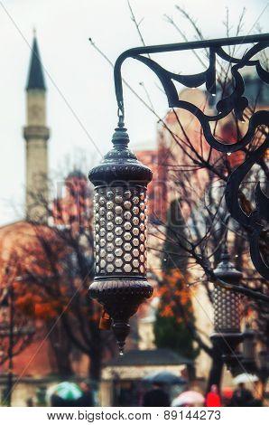 Vintage Street Lamp At Sultan Ahmed Park