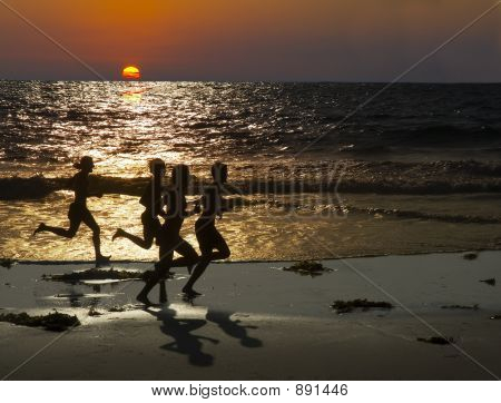 Jogging At Sunset