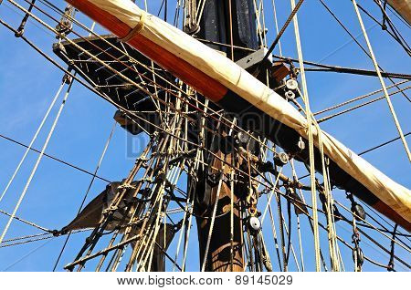 Tall ship rigging, Gloucester.