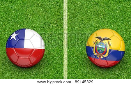 2015 Copa América football tournament, teams Chile vs Ecuador