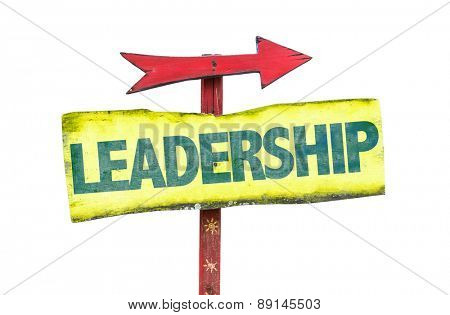 Leadership sign isolated on white