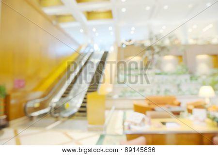 Abstract blurry escalator