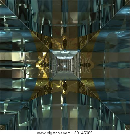 Metal Frame Generated Texture