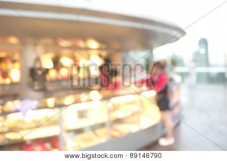 Blurry snack bar