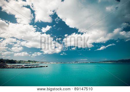 Summer day, Greece, Zakynthos island - sea, sky, vacation.
