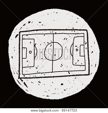 Basketball Court Doodle